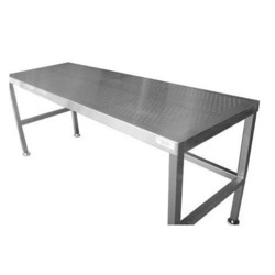 Silver Color Rectangle Steel Table