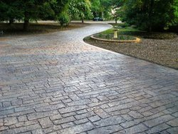 Stain Concrete, For Outdoor, Thickness: 100mm