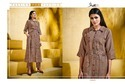 Grey Shaded Pure Linen Classic Kurti
