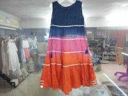 Female Plain Kids Ethnic Dress