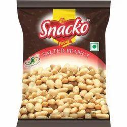 Snacko Salted Peanut Namkeen, Packaging Type: Packet, Total Carbohydrate: 8.9 G/100 G