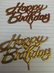 Big Happy Birthday Cake Tag Topper