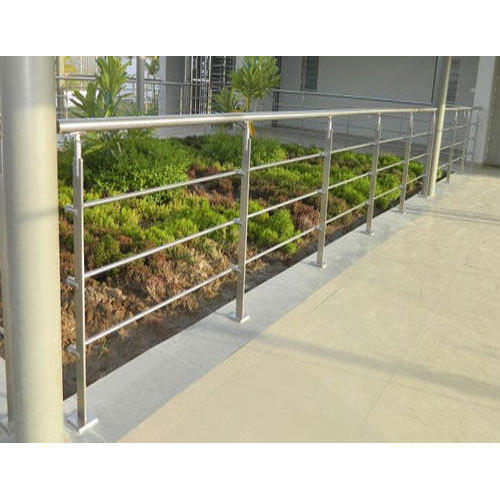 Bar Silver Stainless Steel Garden Railing