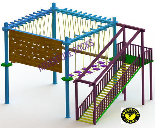 Single Layer 4 Pole Rope Course