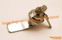 Die Casting Sagar Engineering Works Die Cast Panel Lock With Key Big, Chrome, For Electrical Panel Board