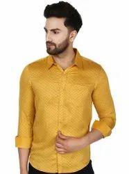 SKAVIJ Men's Cotton Long Sleeve Floral Print Casual Shirt