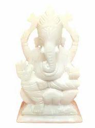 Marble Ganpati Bappa Statue White Marble Ganesha Statue