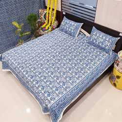 Rajasthani Jaipuri Double Bedsheet with 2 Pillow Covers