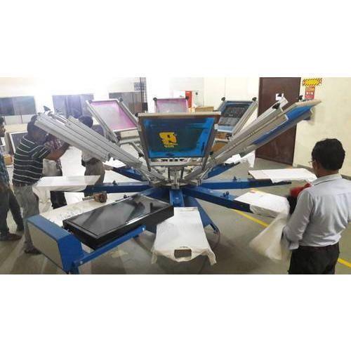 e71207c13 8 Head Manual T Shirt Screen Printing Machine at Rs 55000 /unit | T ...