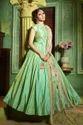 Green Silk Floor Length Anarkali Suit