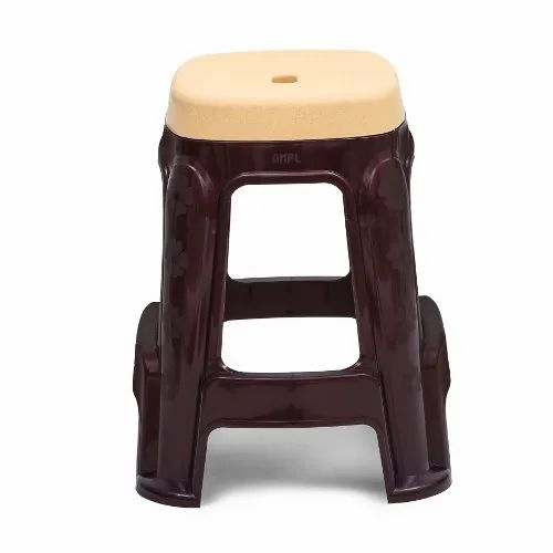 Avro Beige Top Double Color Plastic Stool, Warranty: 1 Year, Weight: 1.3 Kg
