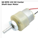 60 RPM 12v DC Center Shaft Gear Motor