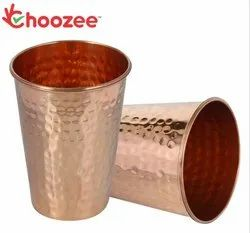 Choozee - Copper Taper Glass - Hammered (4)