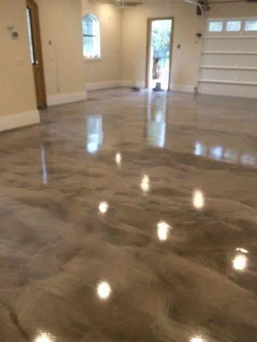 Clear Resin Metallic Epoxy Flooring