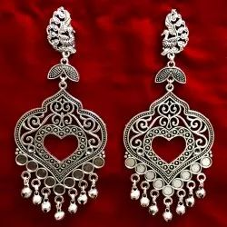 Oxidized Fashion Earrings For Girls