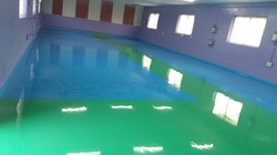 Green And Blue Epoxy Flooring Service