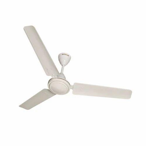 Stainless Steel Plain White Ceiling Fan