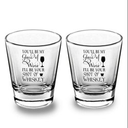 Round Customized Clear Shot Glass