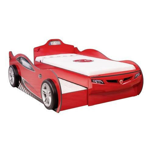 Red Coupe Car Bed With Friend Bed