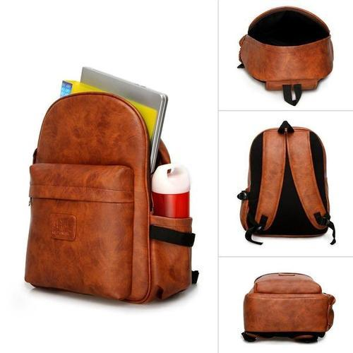 IN INDIA Leather Finish PU Regular Use Heavy Duty Backpack