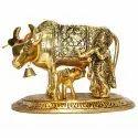 Brass Kamdhenu Statue