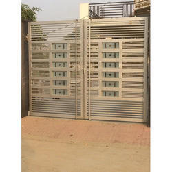 Steel Silver Iron Gate for Home