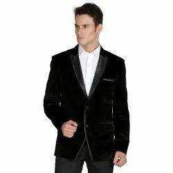 Men Black Velvet Blazer