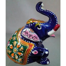 Bikaner House Minakari Elephant Statues, for Interior Decor