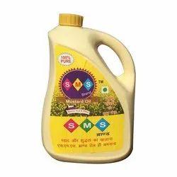 SMS Expeller 5 Litre Edible Mustard Oil, Packaging Type: Plastic Bottle