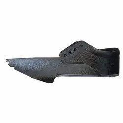Black Leather Safety Shoe Upper