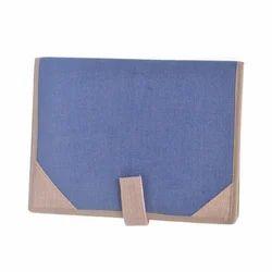 Jute Blue Folder
