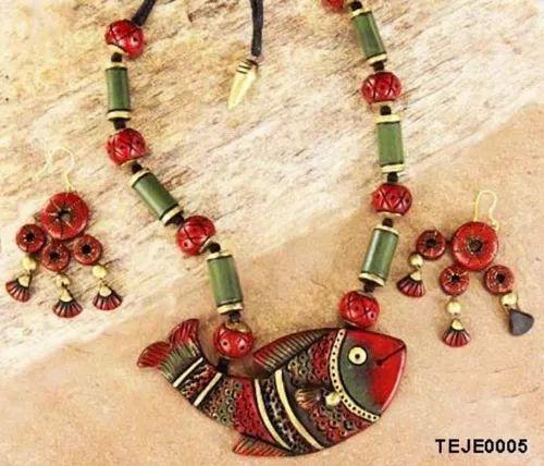 Multicolor Terracotta Jewelry Five Necklace, Rs 450 /piece Oindri | ID:  20826261662