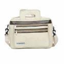 Husamsons Cream Laptop Messengerjute Bag 02, Size/dimension: 15w X12.5h Inches