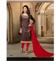 Brown Casual Wear Chanderi Cotton Salwar Kameez-sparxz24