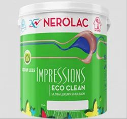 High Sheen Nerolac Impressions Eco Clean Paint Packaging Type: Bucket for Home