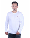 Full Sleeve Cotton Men White T Shirt