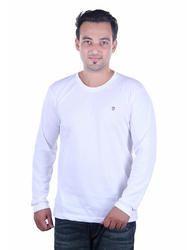 73985eb6d Harbor N Bay Men's Cotton Full Sleeve White T-Shirt, Size: S-