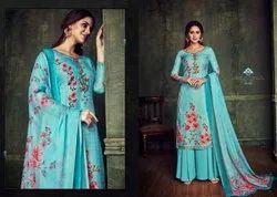 Belliza Designer Studio Blush Pashmina Digital Print Suit