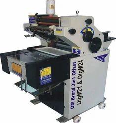 Om Single Colour W Cut Bag Offset Printing Machine, Sheet Fed
