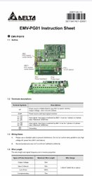 EMV-PG01X Encoder Feed Back 5V and 12 V PG Card for Delta VE Series AC Drives