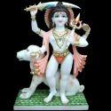 White Marble Bhairav Statue