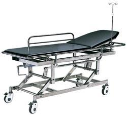 Black And Silver Hospital Stretcher