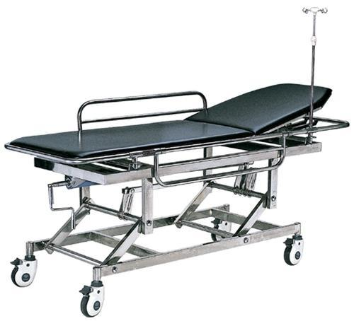 Black And Silver Folding Hospital Stretcher, Mild Steel, Rs 12700 /piece |  ID: 11417349791