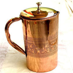 Round Copper Water Jugs, Capacity: 1.25 LTR