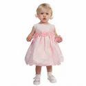 Net, Satin Pink Baby Flower Girl Dress