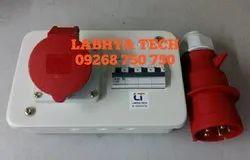 Labhya Tech Mild Steel 32 Amp 3 Phase Mennekes Distribution Box, Single Ways, IP Rating: IP44