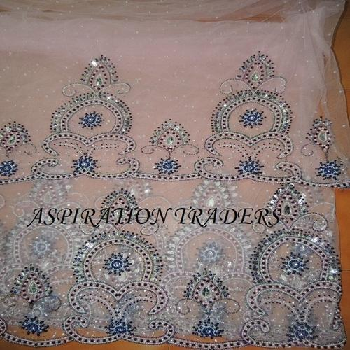 Silk George With Net Blouse For Wrappers Indian Fabrics Nigerian Wedding Georges
