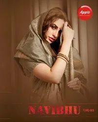 Apple Navibhu Vol-3 Cotton Silk Saree