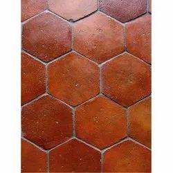 Ceramic Red Terracotta Tiles, Thickness: 8 - 10 mm, Size: Medium