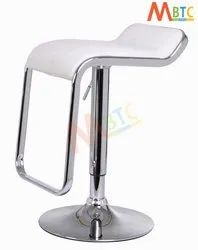 MBTC  Kitchen Cafeteria Bar Stool Chair In White
